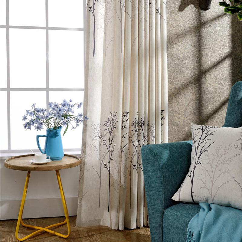 eenvoudige amerikaanse stijl traditionele gordijnen woonkamer, Meubels Ideeën