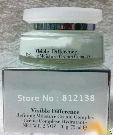 Hot! Wholesale Visible Difference Refining Moisture cream complex hydratente, facial cream 75ml, 3pcs/lot, free shipping