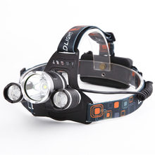 4000 LumensXML T6 4 Modes LED Rechargeable Head Lamp Led Headlight Headlamp Hunting Flash Light Lamps Use 18650