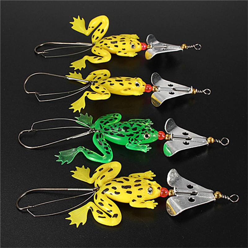 Buy 4pcs lot 9cm for frogs rubber soft for Rubber fishing lures
