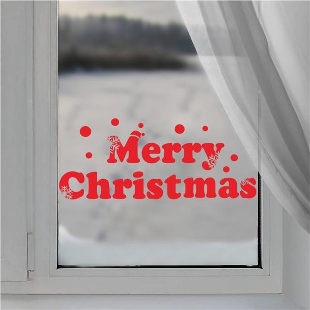 С рождеством христовым оконное стекло отличительные знаки xmas45 украшения дома наклейки сайт с новым годом