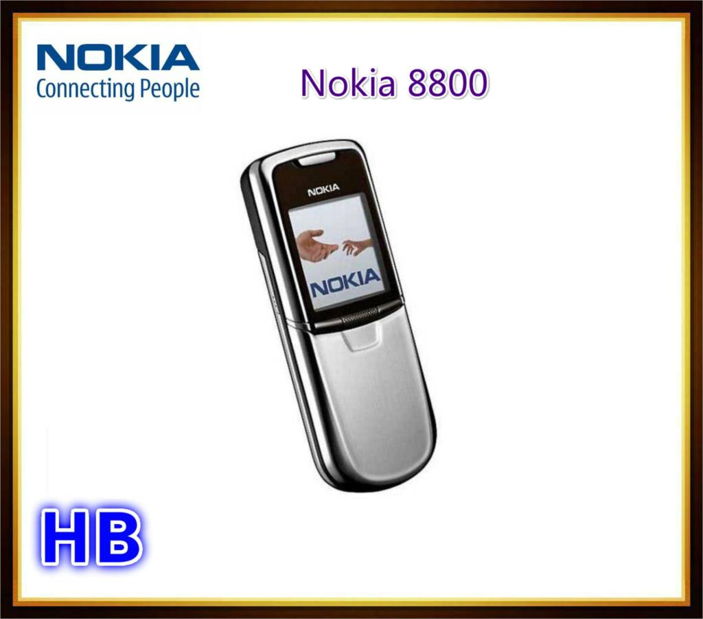 Original NOKIA 8800 Unlocked Cell Phone GSM 64MB RAM Jave Symbian S40 OS Mobile Phone Support English /Arabic Keyboard/ Russian(China (Mainland))