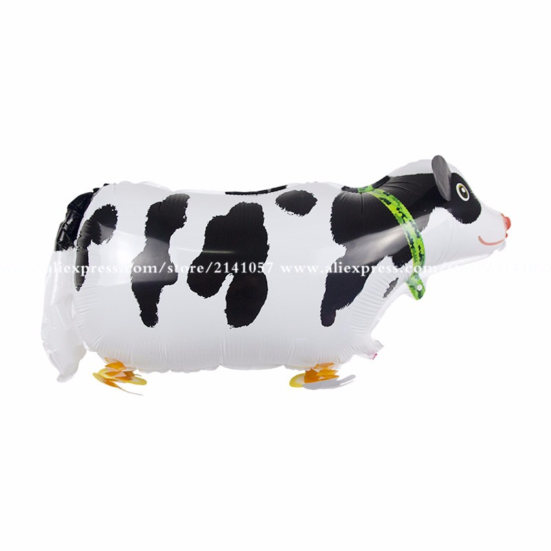 10pcs/lot Big Size Walking Cow Foil Balloons Animal Helium Balloon in Littlest Pet Shop for Birthday Party Kids Toys(China (Mainland))