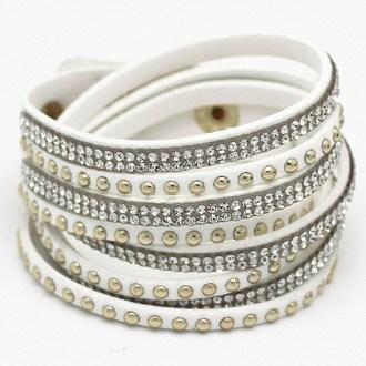 Многослойные кожаный браслет кристалл обертывание Braclets для женщин длинные марка ...