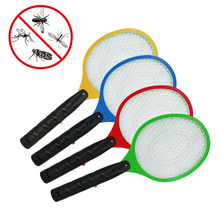 1Pcs New Electronic Mosquito Racket Fly Racket Handled fly Racket Electric Bug Zappers Mosquito Kill Swatter Zapper(China (Mainland))