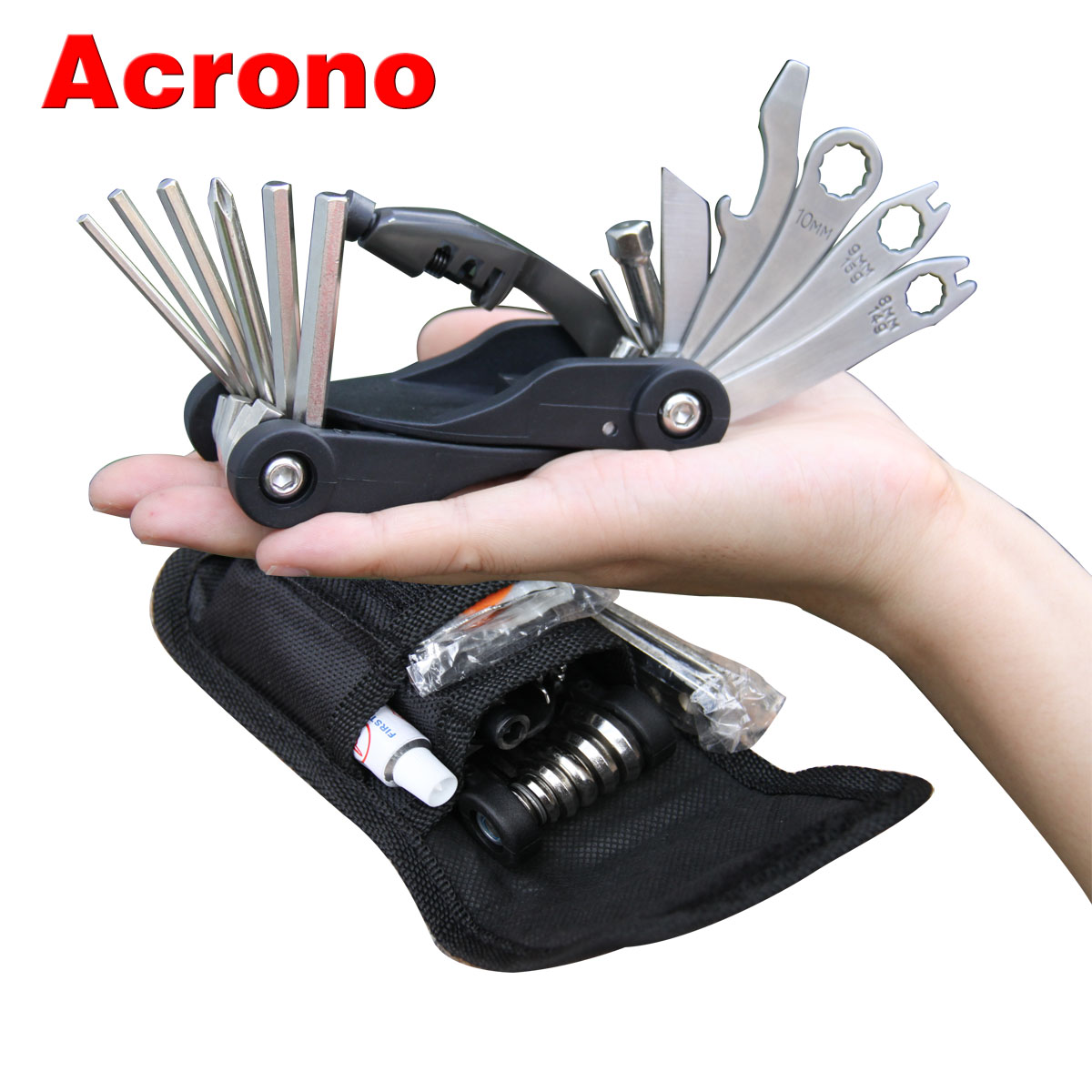 Acrono xd180 bicycle combination repair tools belt tire set levers chain device(China (Mainland))