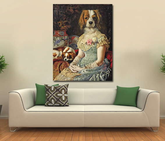 (Unframed) Humor animal dog Modern Home Decor Wall Art Canvas Animal Picture Print Painting Set of one Canvas Arts(China (Mainland))