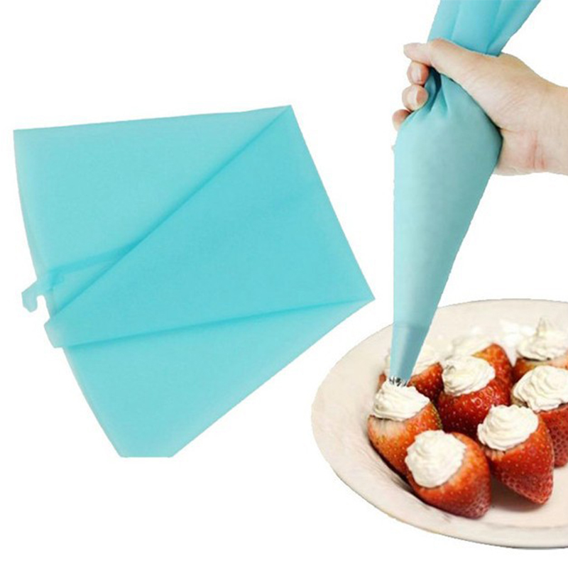 Cake Decorating Icing Bag : High Quality Silicone Reusable Cream Pastry Icing Bag ...