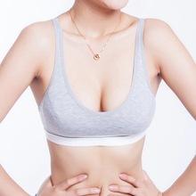 Buy 100% Cotton Women bust Push Bra Tank Underwear Bra Size (32 34 36 38) 4 Color for $2.14 in AliExpress store