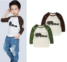 2015 Fashion Autumn / Winter plants vs zombies Long Sleeve Cotton boys clothes children t shirt Kids clothing Girls tees tops(China (Mainland))
