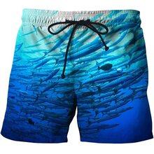 3d Fish de secado rápido verano hombres Siwmwear hombres playa Board Shorts Briefs para hombres natación bañadores playa Shorts de baño ropa asiática tamaño s-6xl(China)