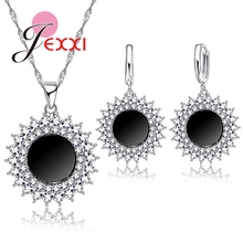 Buy PATICO Luxury Sun Light Design Bling Bling Crystal Silver Jewelry Set Including Necklace Earrings Women Cocktail Party for $2.81 in AliExpress store