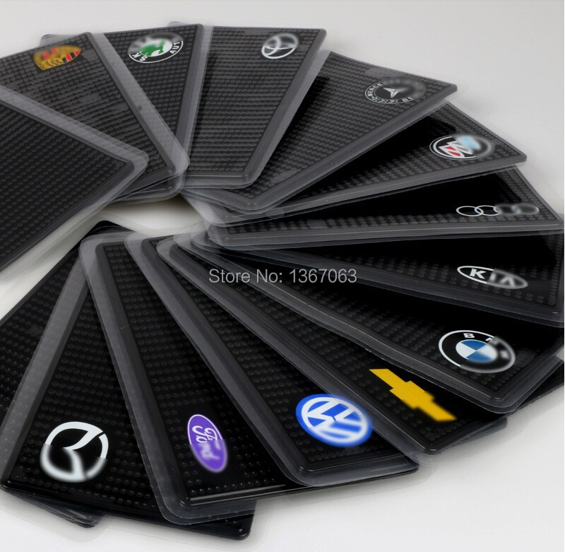 100pcs/lot cute and easy to use PU Anti Slip Super sticky suction logo print Car Dashboard Sticky Pad Mat for Phone PDA mp3 mp4(China (Mainland))