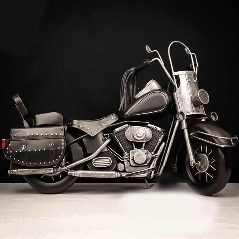 Black harley motorcycle 2008 Harley successor Anniversary Edition car model toys hot wheel 1:6 Handmade Diecast Metal Car Toy