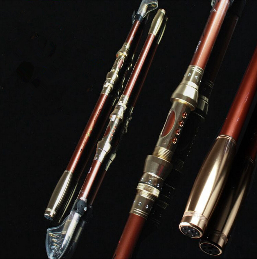 Carbon fiber telescopic fishing rod foldable pole boat for Best telescoping fishing rod