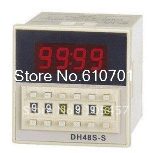 Digital time delay repeat cycle relay timer 1s-990h LED display 8 pin panel installed DH48S-S SPDT Tell us the voltage you need<br><br>Aliexpress