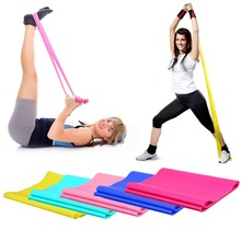 1.2m Elastic Yoga Pilates Rubber Stretch Exercise Band Arm Back Leg Fitness thickness 0.35mm same resistance Free Shipping(China (Mainland))