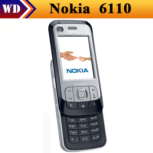 Original NOKIA 6110 Navigator Mobile Phones Unlocked 6110N Cell Phones 3G Bluetooth Black And Silver ColorS(China (Mainland))