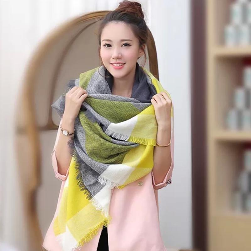 3N-_AYY Blanket scarf women Hijab Soft Large Cashmere scarf shawl luxury designer scarves pashminas Plaid scarf women(China (Mainland))