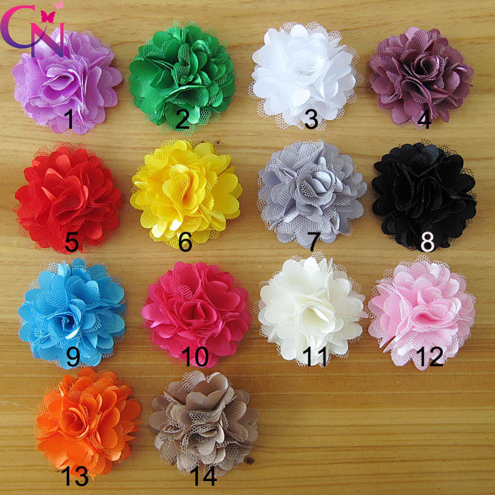 42 Pcs/lot 2 inch Fashion Handmade Cute Satin Lace Flower Baby Girls Boutique Small Headband Without Clip Headwear - CN Yiwu Chengna Hair Accessories Factory Store store