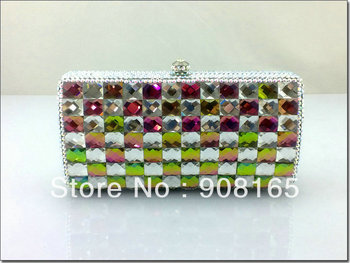 high-quality 2013 women handbags,new colorful luxury clutch crystal,women fashion designer bags.free shipping