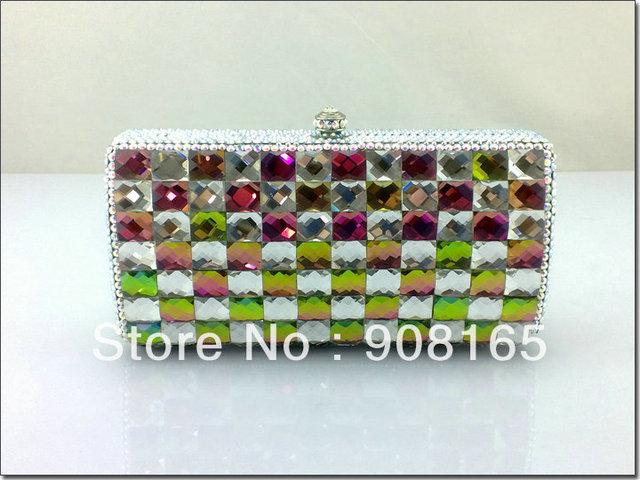 high-quality 2013 women handbags,new colorful luxury clutch crystal,women fashion designer bags.free shipping