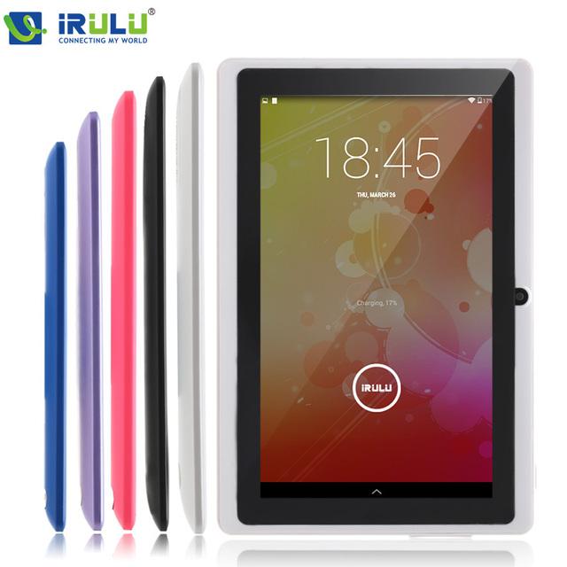 Irulu eXpro 7 '' планшет Allwinner четырехъядерных процессоров андроид 4.4 планшет 8 ГБ ROM две камеры многоцветный поддерживает wi-fi OTG горячий продавец