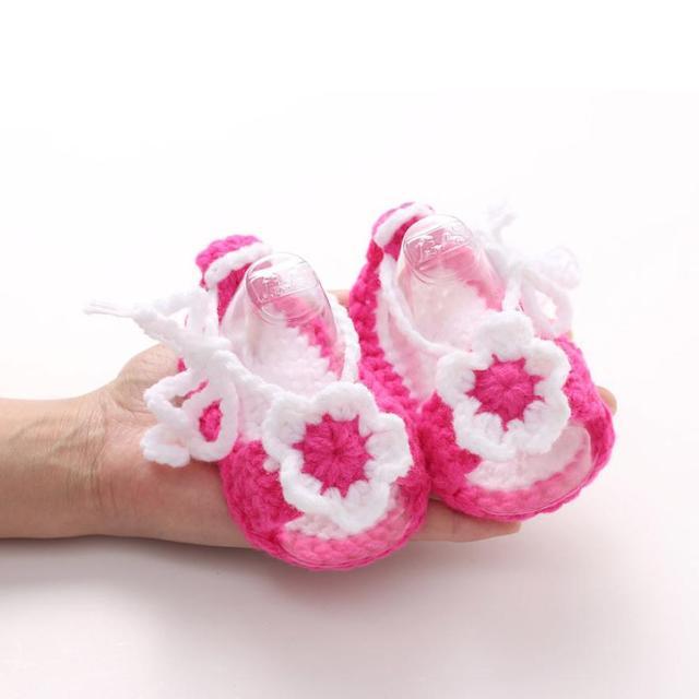 Ребенка малыша обувь цветы девушка новорожденный обувь дети сначала ходунки малыша ...