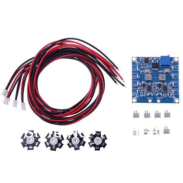 RC Quadcopter Multirotor Parts 4 LED Extension Wire And 4 LED Flashing Light / Night Light w/LED Board(China (Mainland))