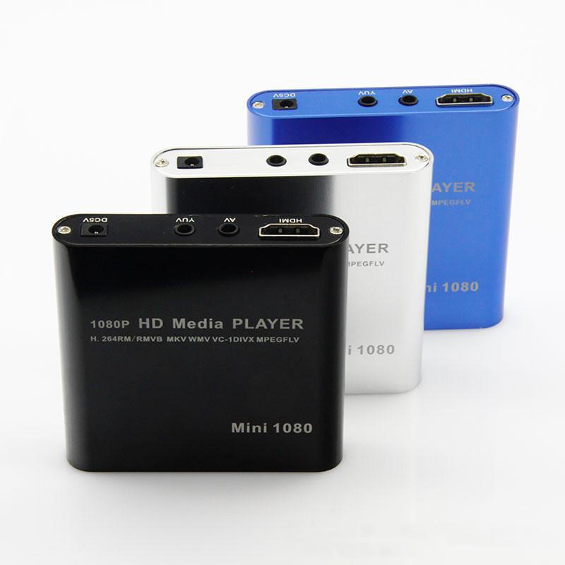 HDMI digital multimedia HD 1080P Mini HDD Media Player H.264 with HOST USB/SD Card Reader RMVB/MKV/TS Free shippng(China (Mainland))