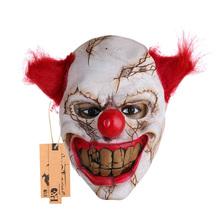 Spaventoso Maschera In Lattice Pagliaccio Grande Bocca Rossa Dei Capelli Naso Cosplay Full Face Horror Fantasma della Mascherina Del Partito di Travestimento per Adulti per Halloween puntelli(China (Mainland))