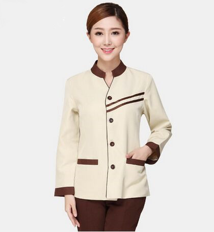 hotel cleaner uniform for women cleaner clothes restaurant uniform hotel wear clothing hotel uniform for waiter(China (Mainland))