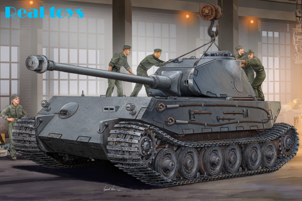 Hobby Boss model 82445 1/35 German VK4502 (P) Hintern plastic model kit(China (Mainland))
