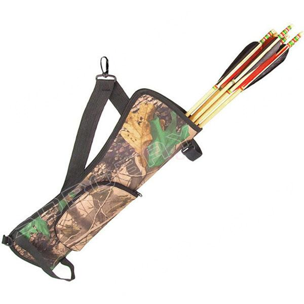 Camouflage Bow and Arrow Quiver Bag Simple Archery Hunting BACK SIDE QUIVER Waist Destroyed Holder Bag