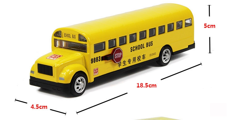 Alloy bus toys Long nose bread bus the American school bus school bus alloy model car toys for children(China (Mainland))