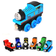 New Kids Wooden Toy Magnetic Thomas And Friends Wooden Model Train Random Colors(China (Mainland))