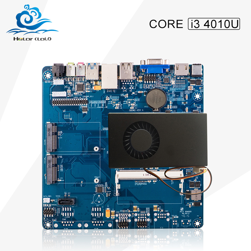 High Quality 2016 New All in one pc motherboard Core i3 4010U With DDR3 External hard disk Vga 4*USB 2.0 With power adapter(China (Mainland))