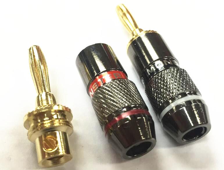 4pcs Monster Audio Speaker Cable Banana Jack Plug Audio Power Speaker Binding Post Terminal Connectors Banana Socket(China (Mainland))