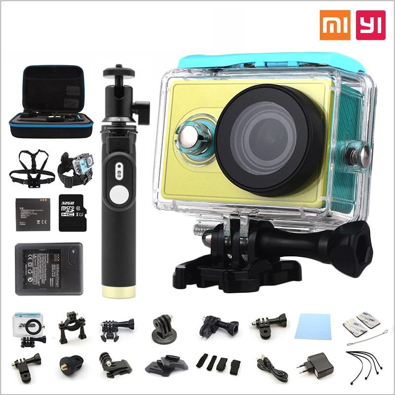 Xiaomi Yi Action Camera optional connector set XiaoYi waterproof Camera 1080P 60fps 16MP wifi Xiaomi Sports Cam Yi Action Camera<br>