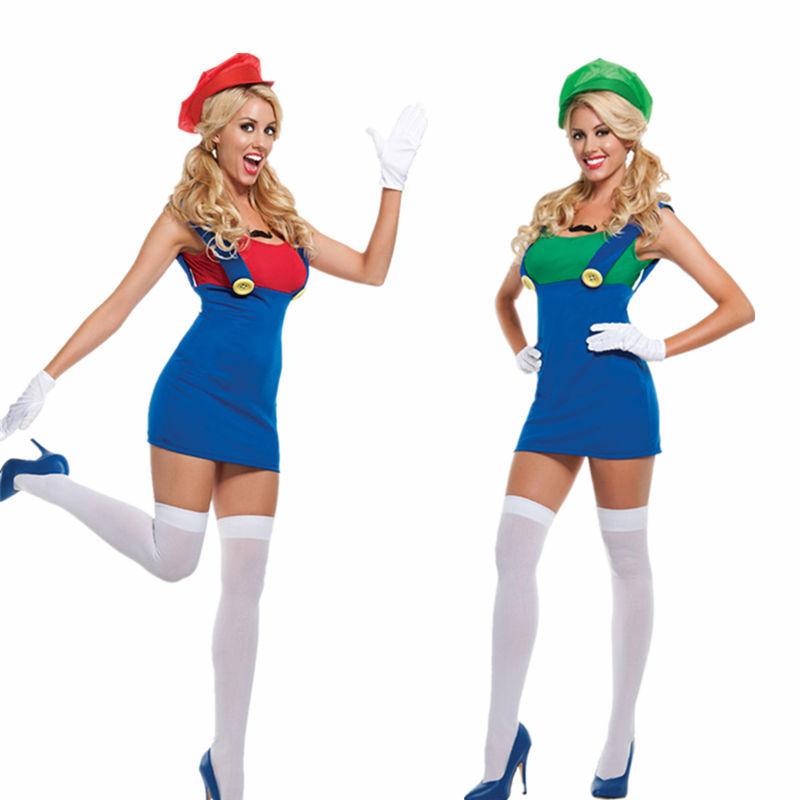 Mario And Luigi Womens Halloween Costumes