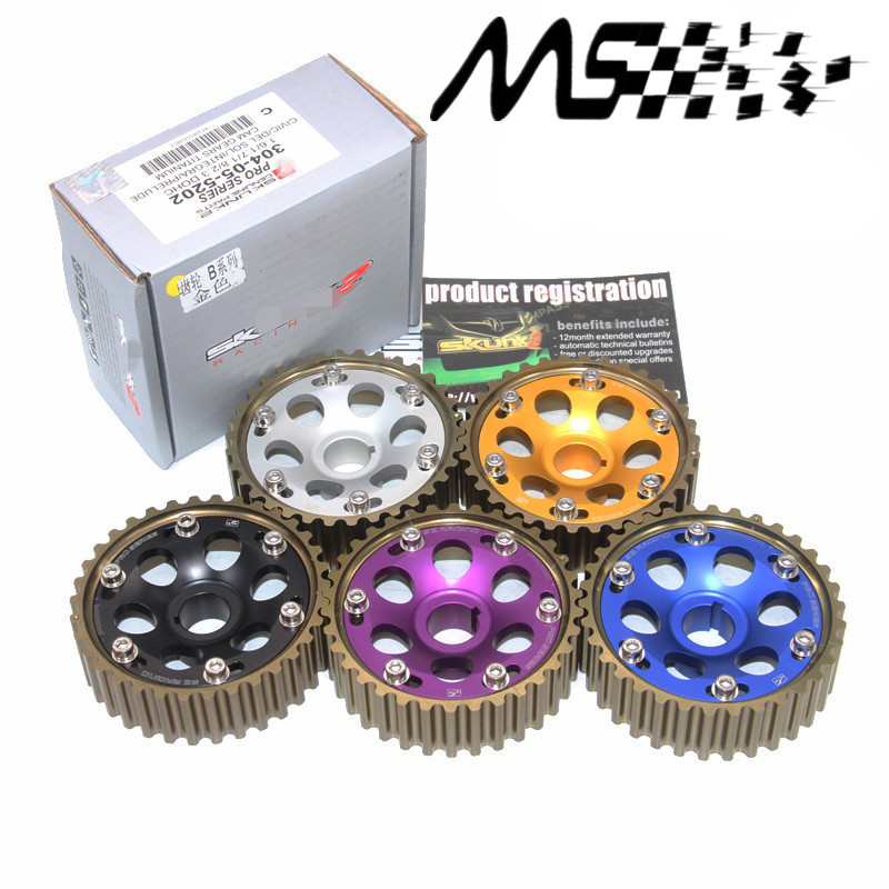 High Quality Racing Pro Series Adjustable Anodized CAM GEARS Pulley KIT For 1988-1995 Honda Civic D-Series