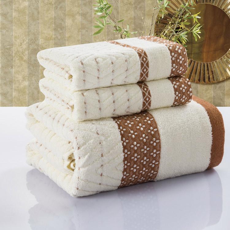 Unihome (3pcs/Lot) Bath Towel Set 70cm*140cm & 2*33cm*75cm 100% cotton towel bath towel piece set face towel wholesale(China (Mainland))