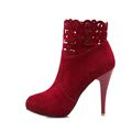 Brand New Hot Sexy Women Ankle Boots Red Black Gray Sexy Winter Fashion Lady Cut outs
