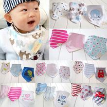 3pcs/set Baby Bibs High Quality Cotton Bandana Bibs Para Bebe Infant Saliva Towel Babadores For Newborn Baby Girls Boys Z1  (China (Mainland))