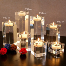 3PCS/SET Dining Table Solid Crystal Candlestick Transparent Crystal Candle Holder Christmas  Wedding Candlelight  Ornaments(China (Mainland))