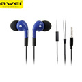 Awei Q9i 3 5mm In ear Studio Earphone With Mic Volume Control Stereo For iPhone Samsung