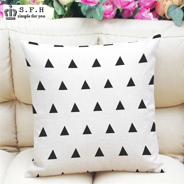 Hot Sale Nordic ikea Decorative Throw Pillow Case Linen Cotton Cushion Cover Creative Decoration For Sofa Car Covers 45x45cm(China (Mainland))