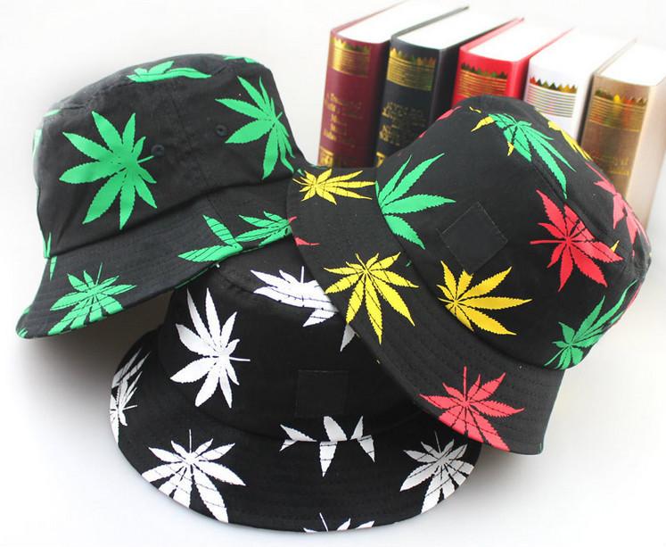 Hiking outdoor fishing hat bob boonie fisherman bucket cap cotton brand Marijuana weed bucket hat men hip hop women sun hat