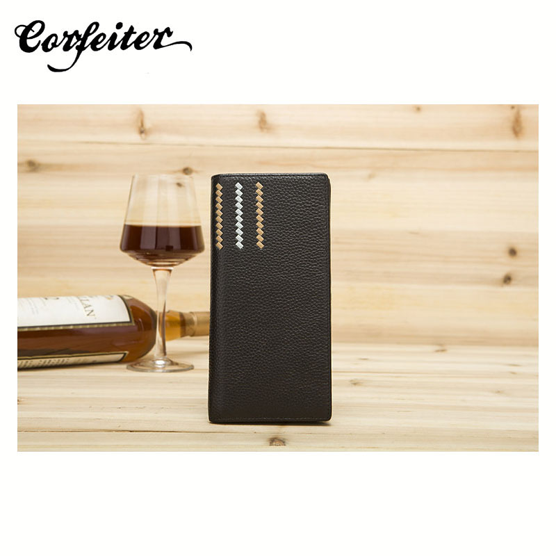 business men wallets genuine leather wallet cowhide purse money folding Wallet cow leather purse casual clutch(China (Mainland))