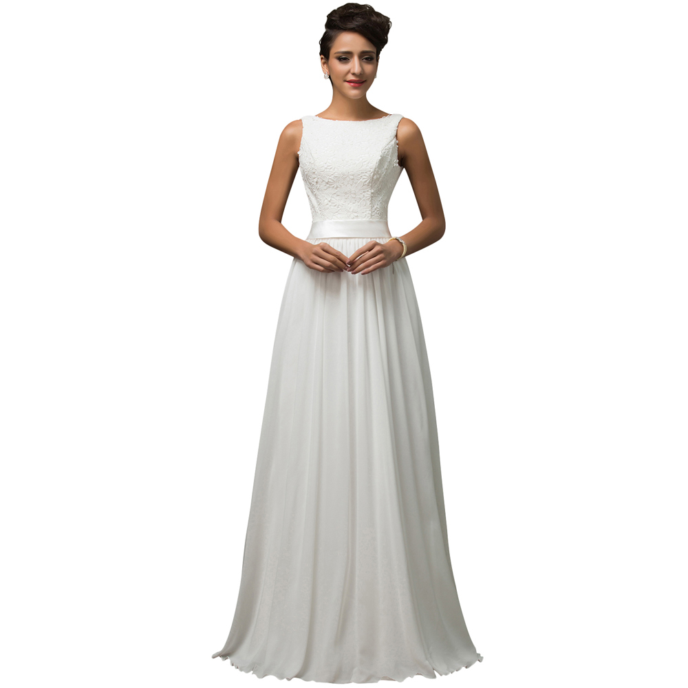 Free Shipping Grace Karin High Neck White Lace Evening Dress Long Formal Gowns Wedding Prom Dresses For Party Floor Length 7560(China (Mainland))